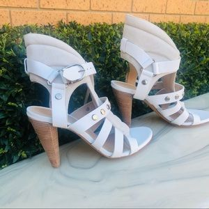 IRO White leather and Suede high heeled sandals - NEW